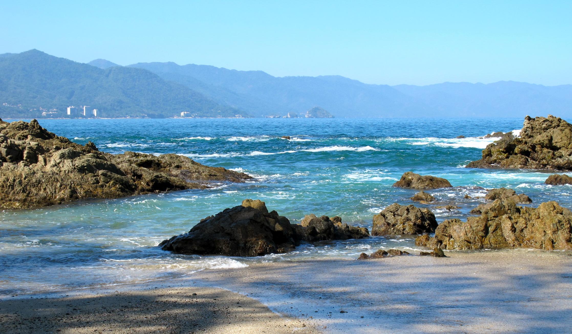 vista de la playa Mismaloya