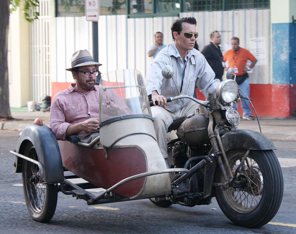 the fabulous cars motorcycles of the rum diary garrett on the road. Black Bedroom Furniture Sets. Home Design Ideas