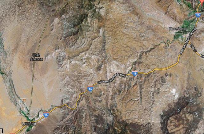 Arizona's of the Virgin River Gorge Highway   Garrett ... on i 15 california map, i 15 idaho map, i-15 south map, i 15 mile marker map, 15 freeway map,