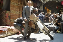James Bond on a bike? It's stunt double Robbie Maddison! (MGM)