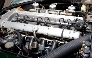 Under the bonnet: a 340-hp replacement engine. (RM Auctions)
