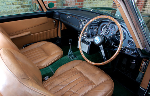 A Look Inside The Skyfall DB5, Before It Was Prepped For Its Movie Role.
