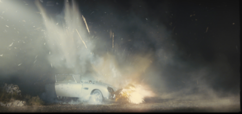 James Bond's bulletproof, but not explosion-proof DB5. (