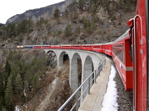 On the Bernina Express, one of Switzerland 8 Great Train Rides (Jerry Garrett Photos)