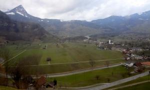 Descending an almost impossible grade on the Golden Pass Line near Meiringen