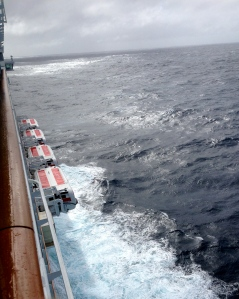 Norwegian Epic encounters a Category 7 Atlantic storm.