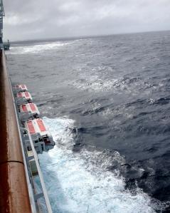 Norwegian Epic encounters a Category 7 Atlantic storm.