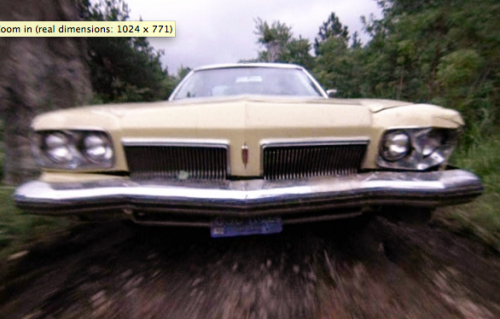 "Sam Raimi's yellow 1973 Oldsmobile Delta 88 from original ""The Evil Dead"" movie"