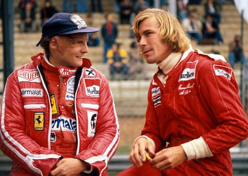 "Hunt vs. Lauda in 1976 - the subject of ""Rush"""