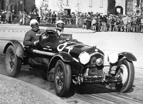 An Alfa Romeo 8C Tipo B en route to 1935 Mille Miglia win (Pebble Beach)