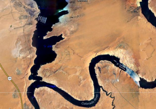 The Arizona portion of Lake Powell. (Google Earth)