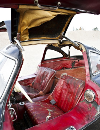 Gullwing's tattered interior