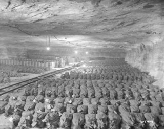 Nazi loot found in Merkers salt mine. (U.S Army)