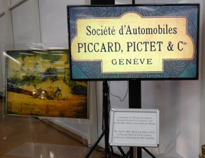 Piccard-Pictet memorabilia, including an old ad poster.
