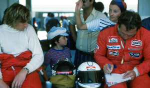 McLaren teammates Mass & Hunt.
