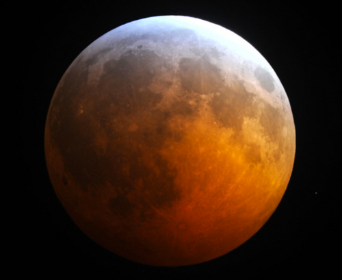 A blood-red moon - a total lunar eclipse - will occur on April 15. (Space.com)