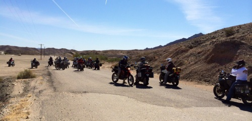 A group of motorcylists set off near Dome, Ariz., to find Cannon Ball Baker's Trail (Jerry Garrett Photo)