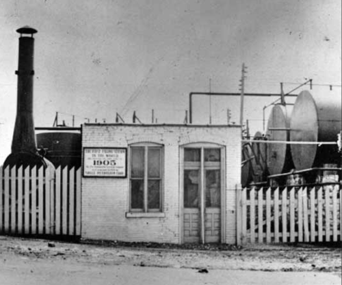 America's first gas station, St. Louis, 1905