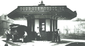"""1913: The first """"drive-in"""" filling station opened."""