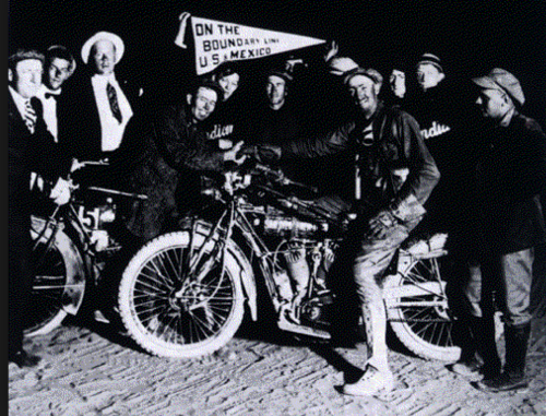 News reports alerted folks of Erwin Baker's transcontinental record attempt, and crowds gathered in every town to cheer him on.