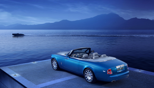 Rolls-Royce Phantom Drophead Coupe Waterspeed Edition, along Lake Como.