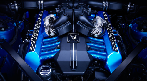 A Rolls-Royce first: A blue engine!