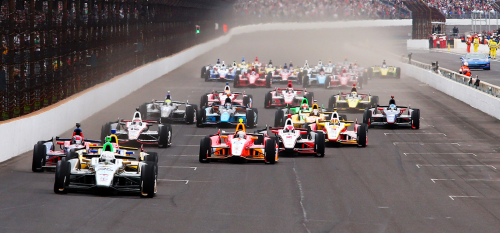 The start of the Indianapolis 500, as seen last year. (IMS Photo)