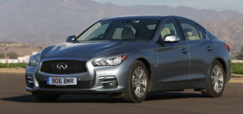 A UK-spec Infiniti Q50 Hybrid with right hand drive