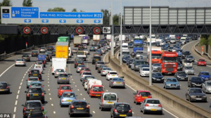 London's infamous motorway queues