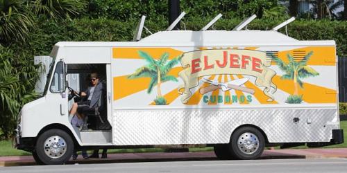 "Jon Favreau's Restaurant on Wheels in the movie ""Chef"""