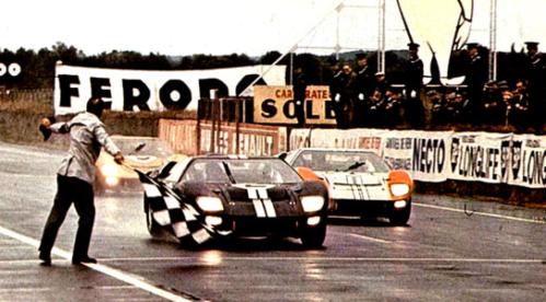 Ford GT40 winning 1966 24 Hours of Le Mans.