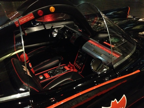 Inside the Batmobile's cockpit