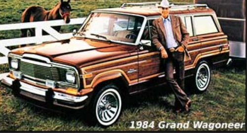 Fake wood grain! Stylish again? (Jeep archives)